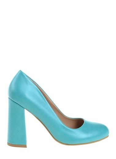 D by Divarese Kalın Topuklu Ayakkabı Yeşil
